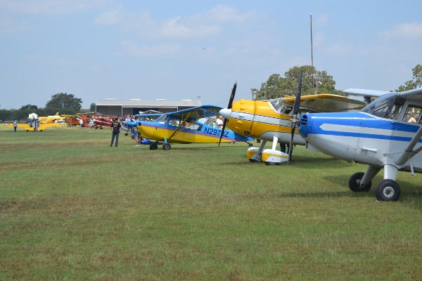 A look down the flight line at AirFair 2012
