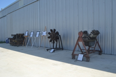 Display of antique engines