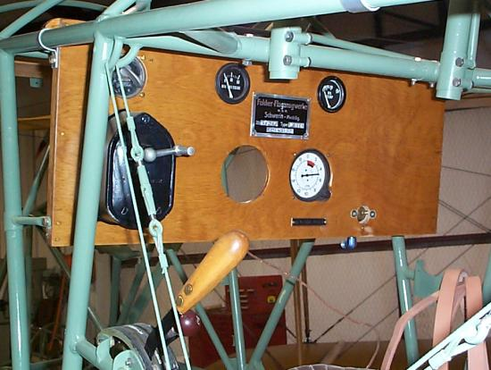 Fokker instrument panel