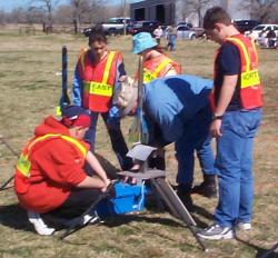 Flightline crew prepping a rocket
