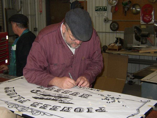 Cutting stencils for sign