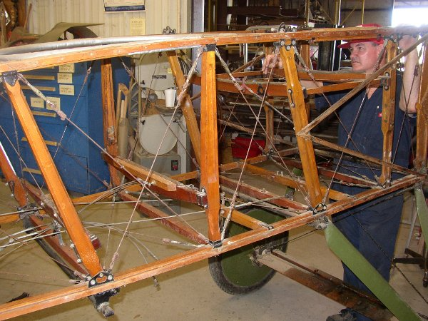 Thomas-Morse fuselage, stripped