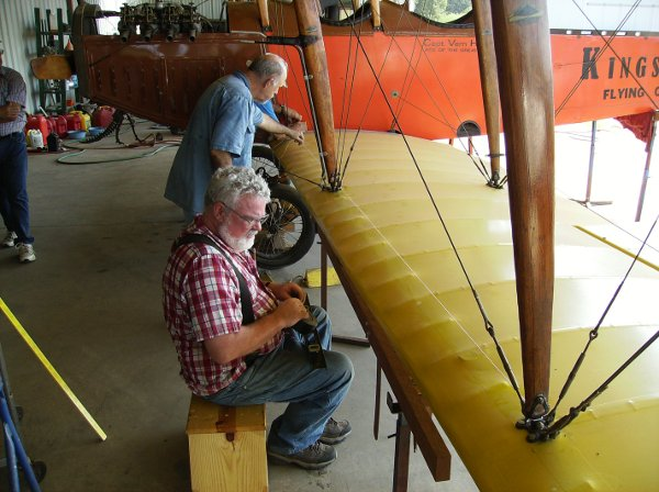 Re-rigging the Curtiss Canuck