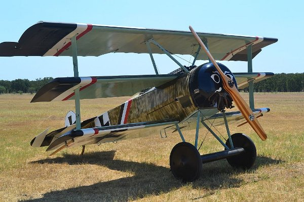 Fokker Dr.I triplane ready to fly