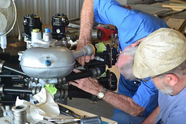 Working on the Piper J-3 Cub engine