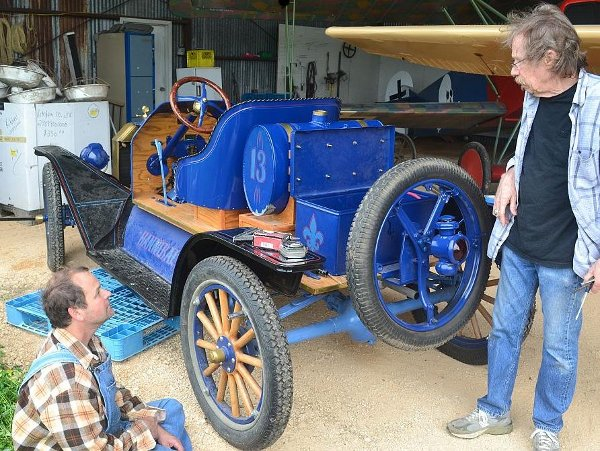 Working on the Model T Speedster