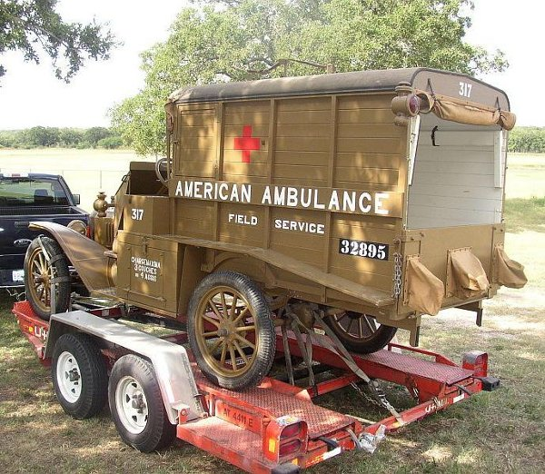 French Ambulance loaded for USAA trip