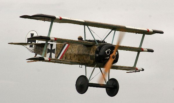 Triplane flying low