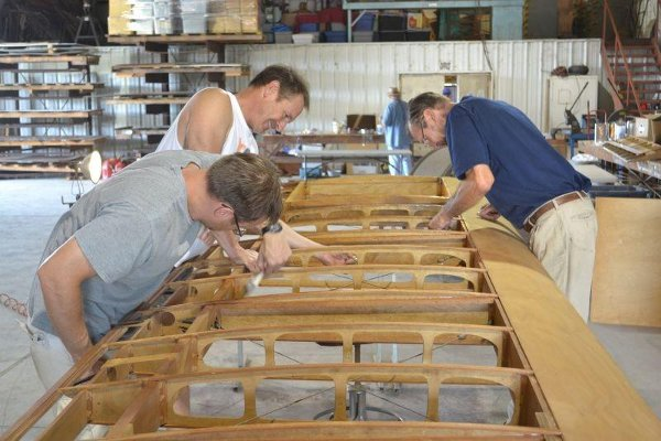 Varnishing the Rearwin 2000C Ken-Royce wing panel