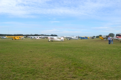 Some of the airplanes that flew in to the picnic