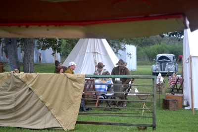 Re-enactor encampment