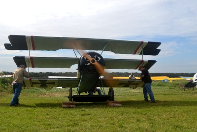 Running the Fokker Dr.I Triplane
