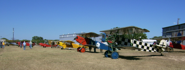 Museum aircraft lined up for the fly-in