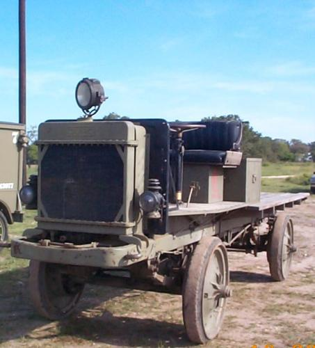 Left front quarter view of Nash Quad truck