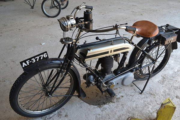1921 Triumph dispatch rider's motorcycle