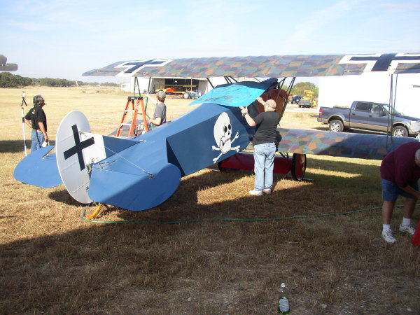 Cleaning the Fokker D.VII
